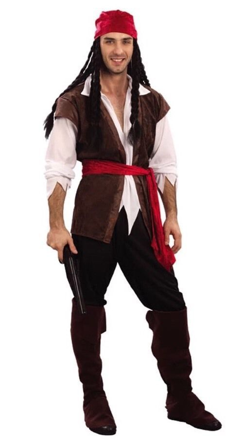 Adult Ladies Mens Pirate Caribbean Jack Sparrow Party Fancy Dress Costume Outfit