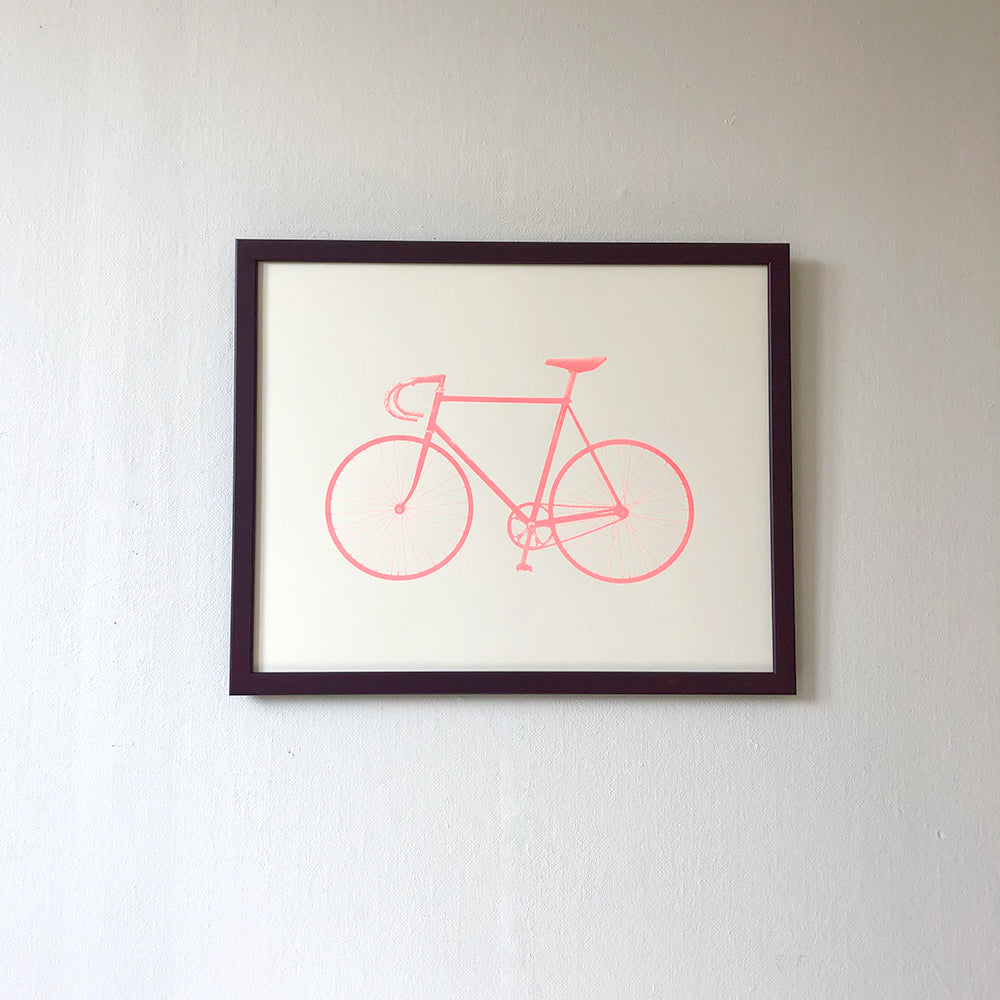 Ride M Fluorescent Red - Screen print