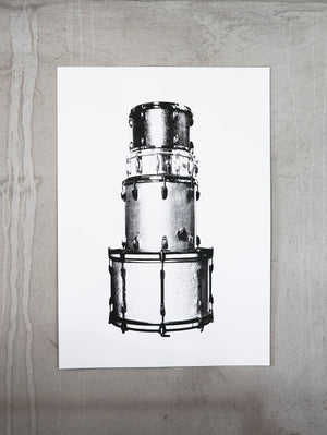 Batterie – screen print