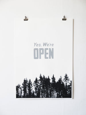 Allemansrätten,  Off-white – screen print