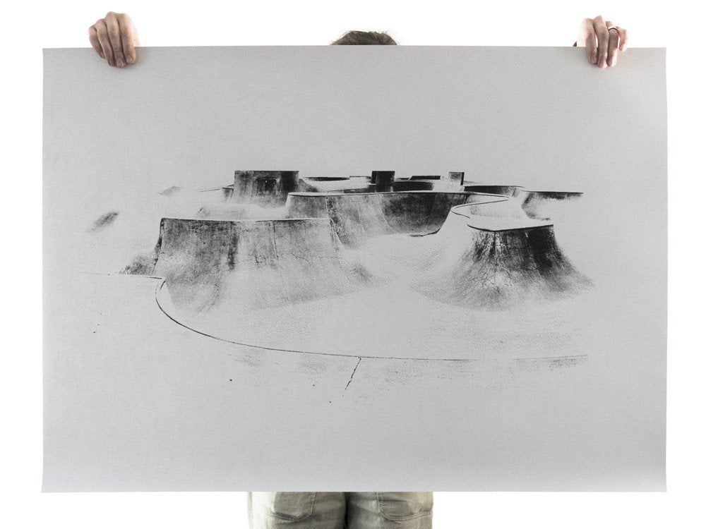 The Hills Are Alive With The Sound Of Skateboards - screen print