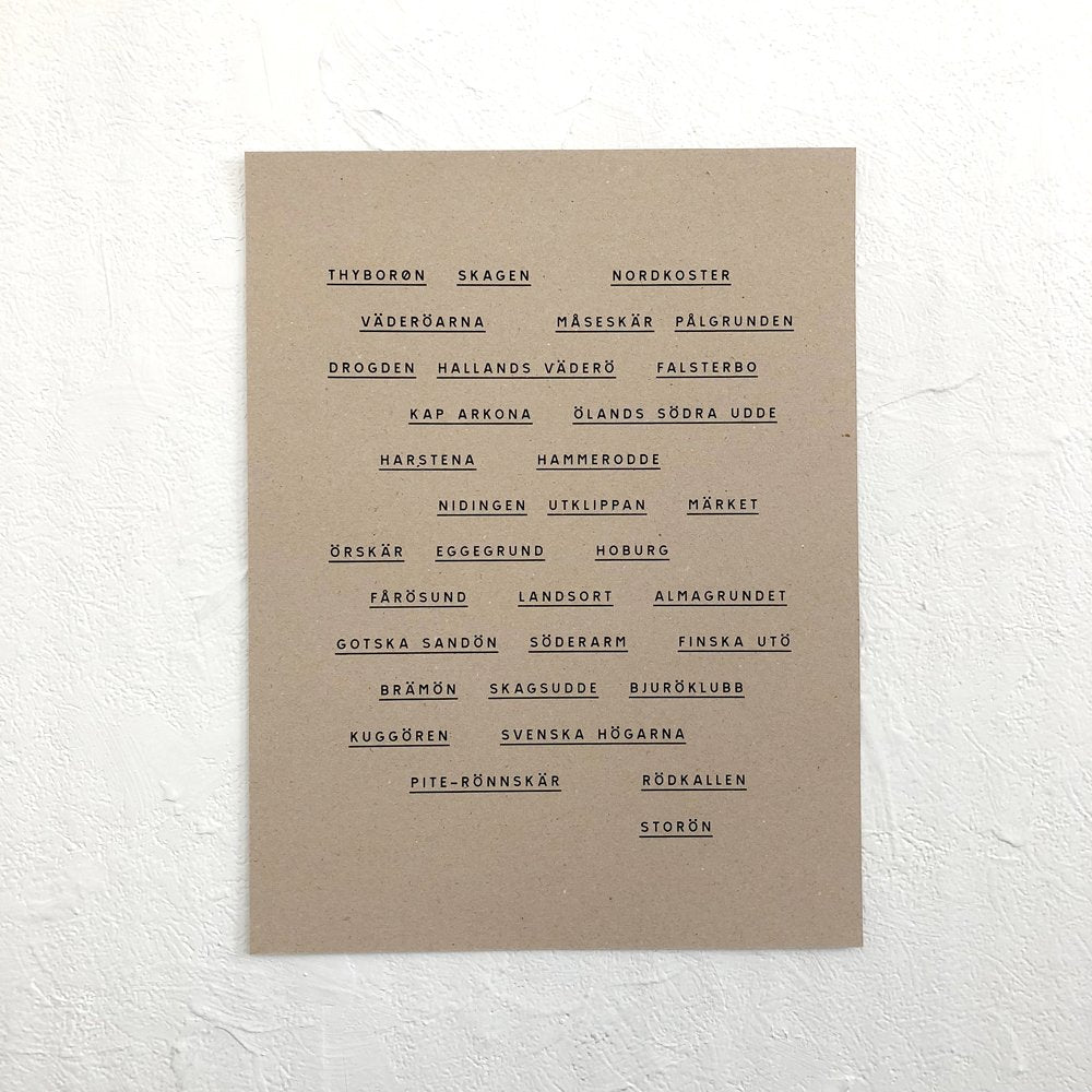 Observationer, Recycled Brown – poster
