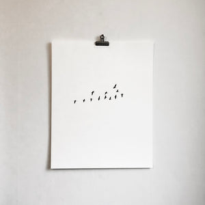 Birds Flock – screen print