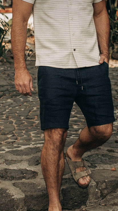 our guy wearing the apres shorts