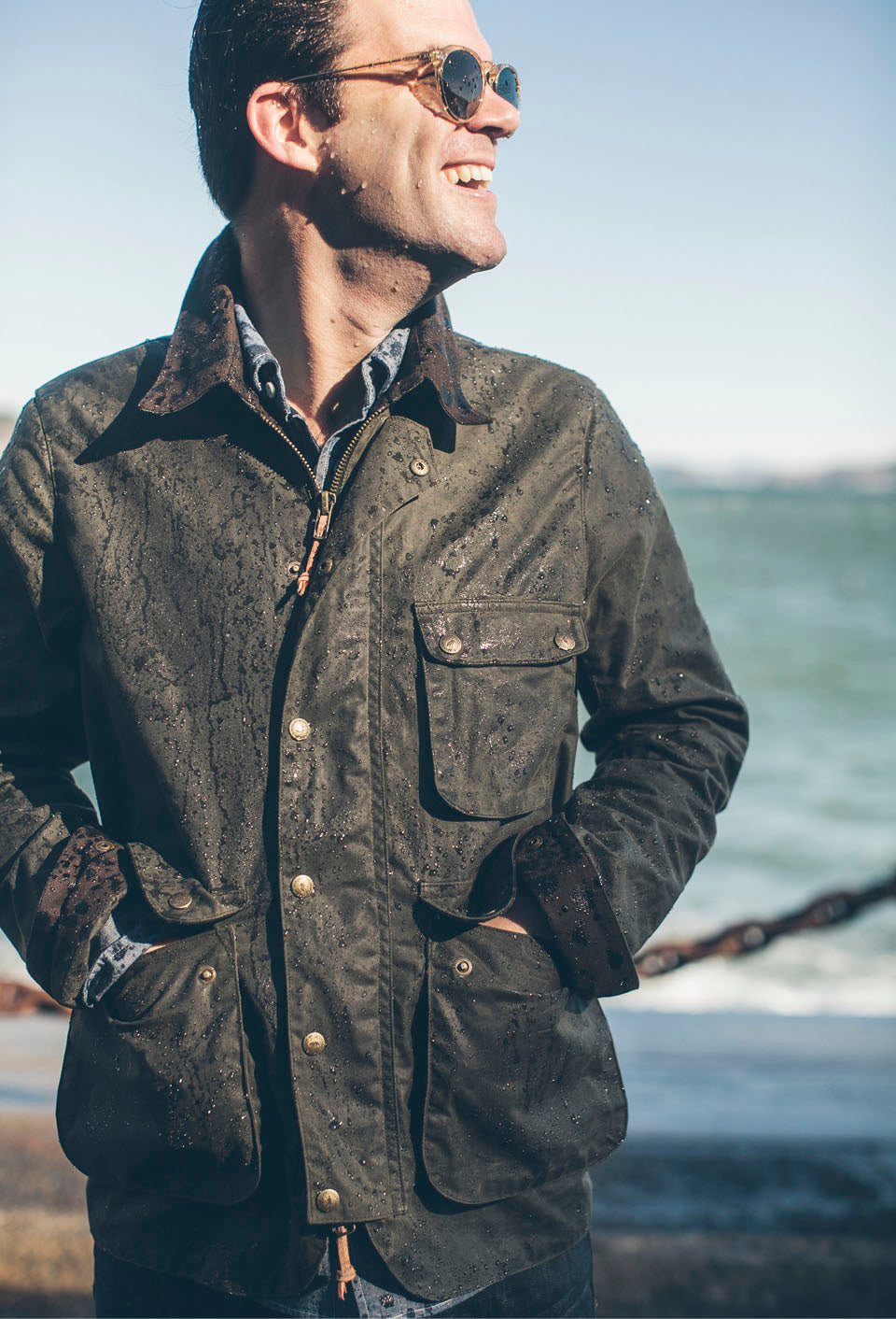 Weekly Edition The Rover Jacket In Waxed Cotton Journal