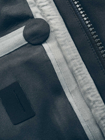 Detail shot of the waterproof seams on the interior of The Hawkins Jacket.