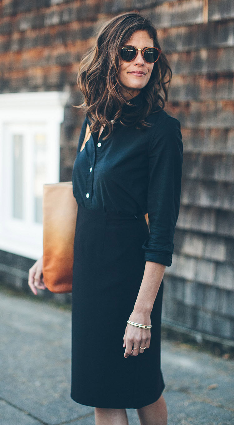 The Katherine in Washed Black Oxford