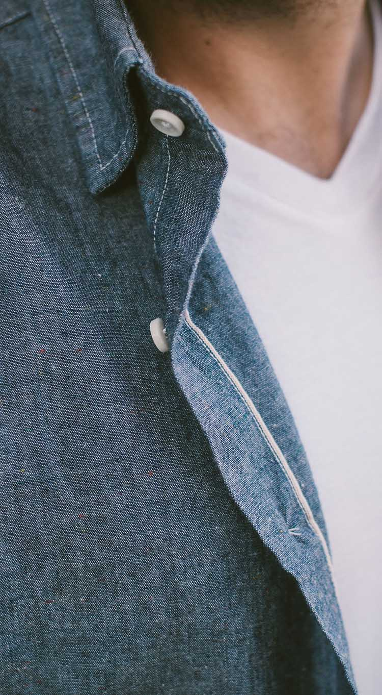 The California in Confetti Selvage Chambray