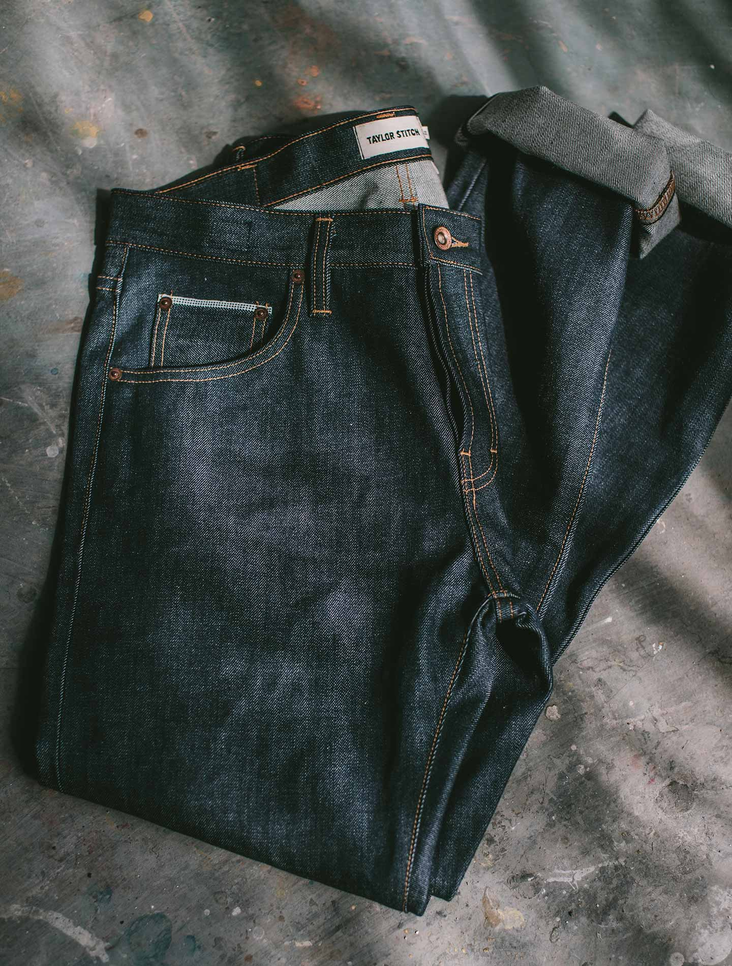 A pair of American-Made jeans.