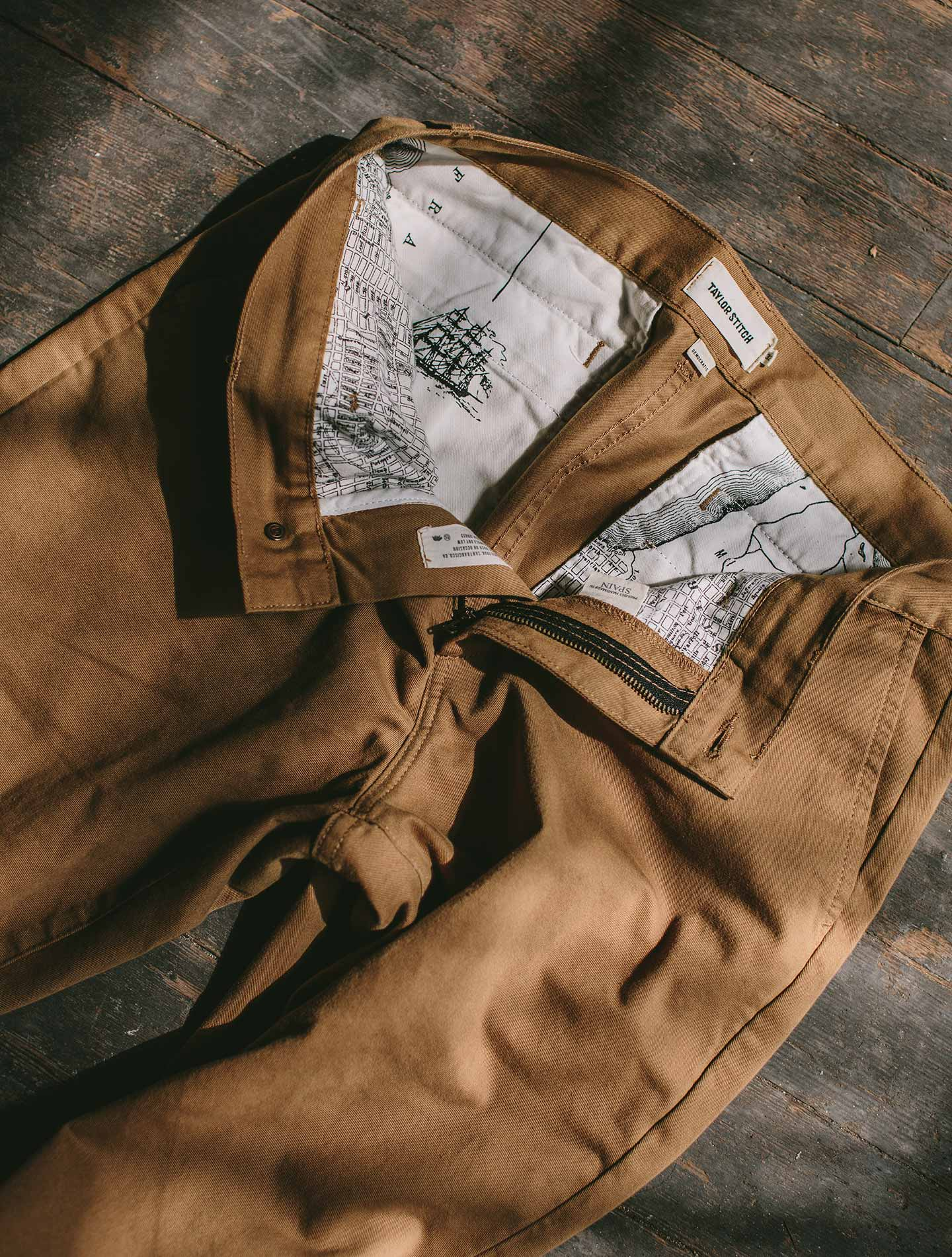 A pair of Chinos from Taylor Stitch.
