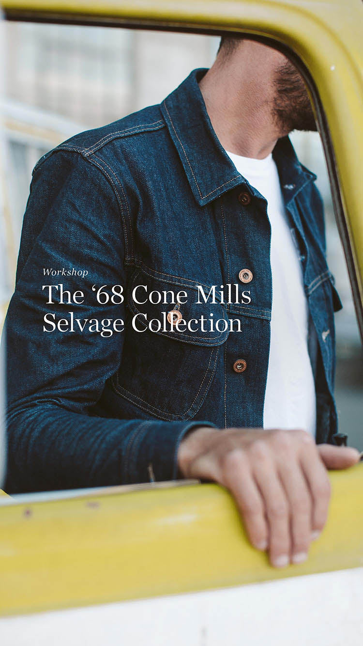 Custom Cone Mills Selvage Indigo Denim Collection