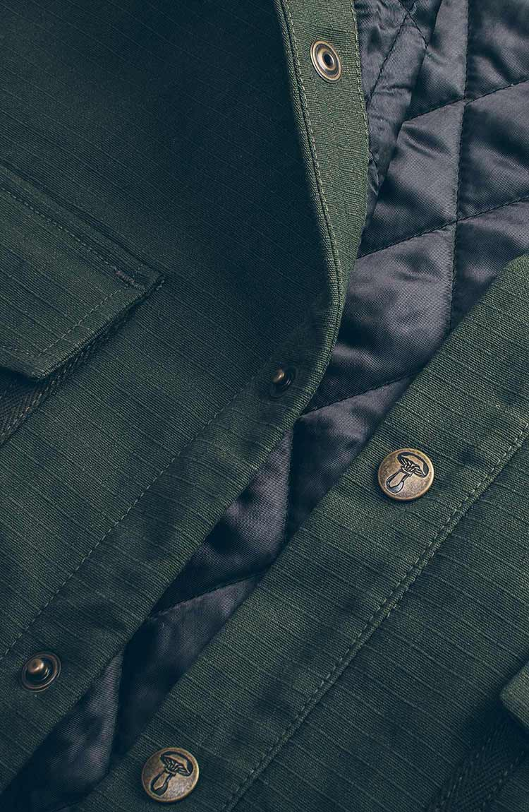 The Chore Jacket in Army Ripstop Canvas