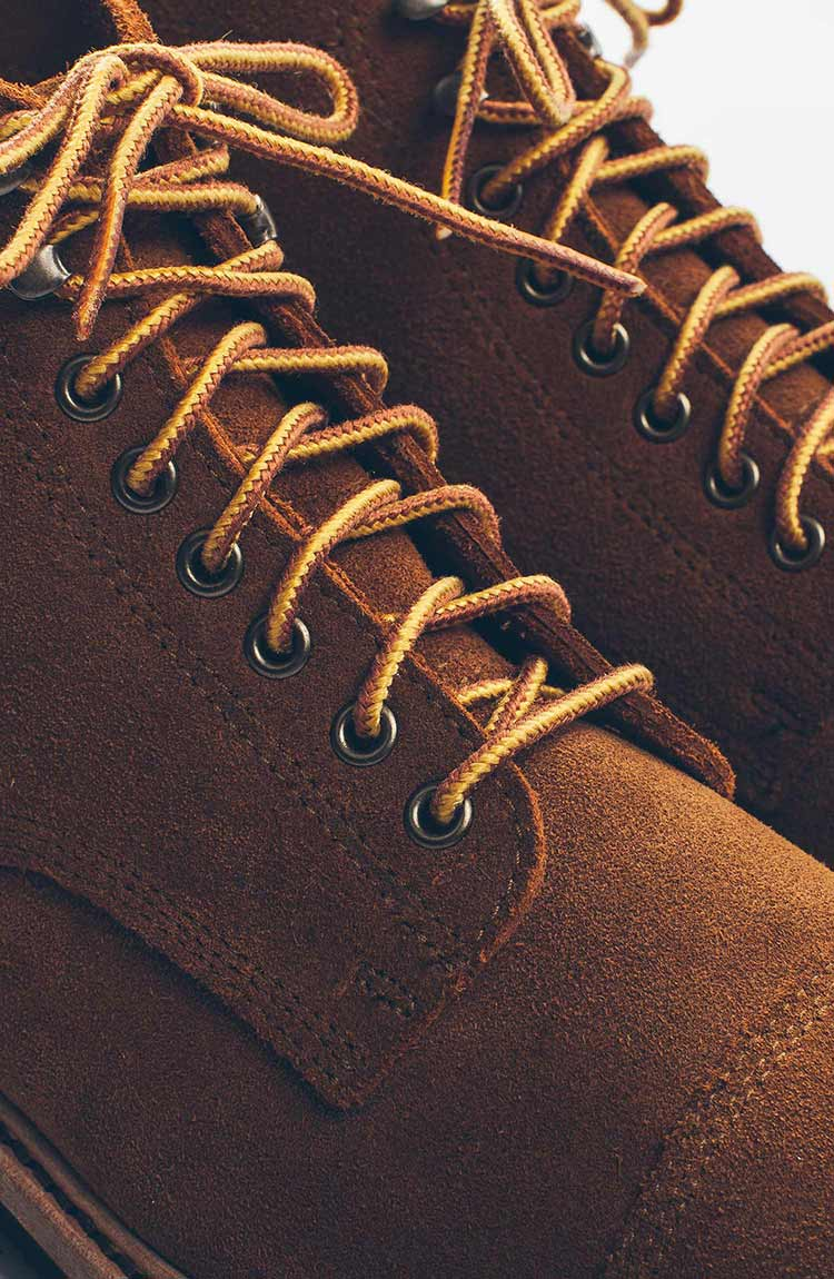 The Mark Boot in Peanut Oiled Suede