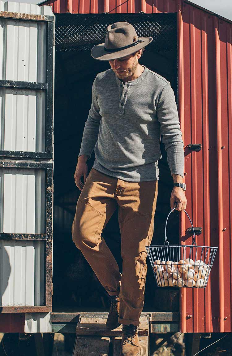 The Chore Pant in Washed Camel