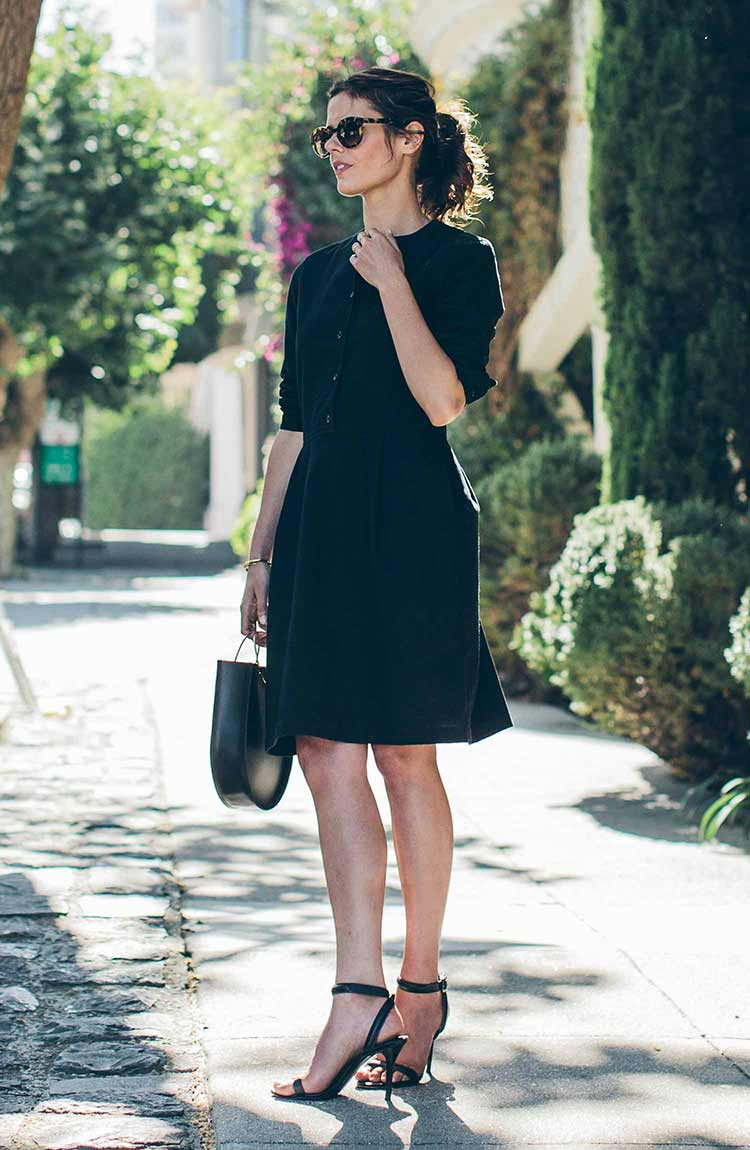 The Juniper Dress in Black Brushed Cotton