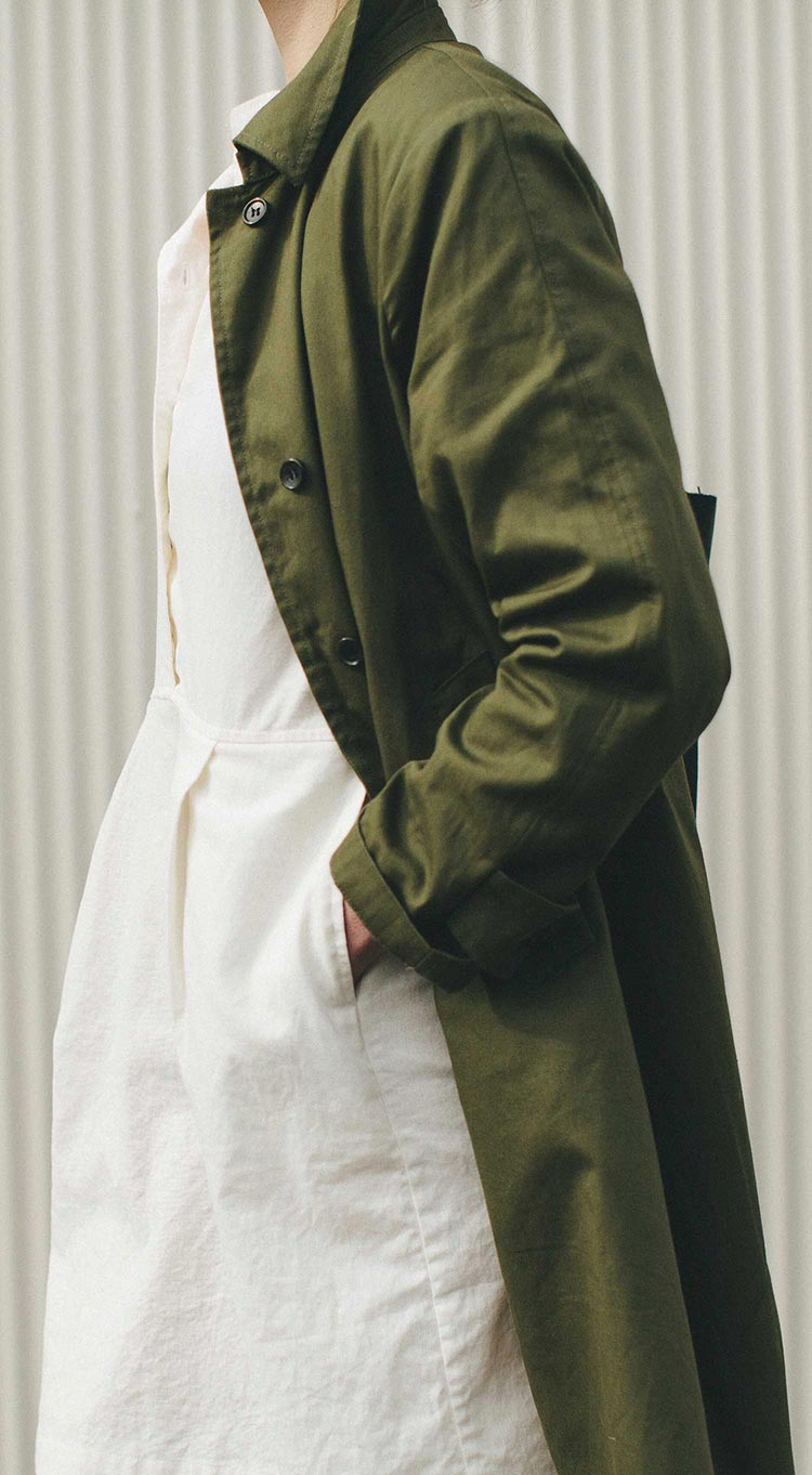 The Noe Trench - in Olive