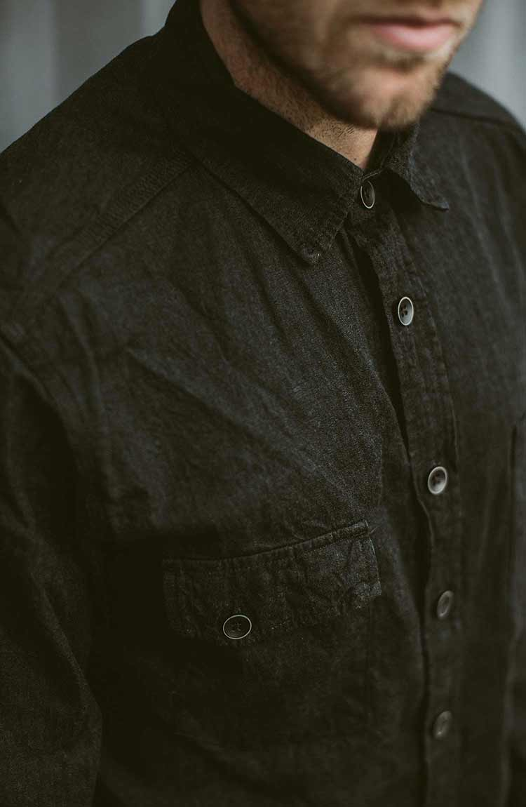The Utility Shirt in Yoshiwa Black Selvage