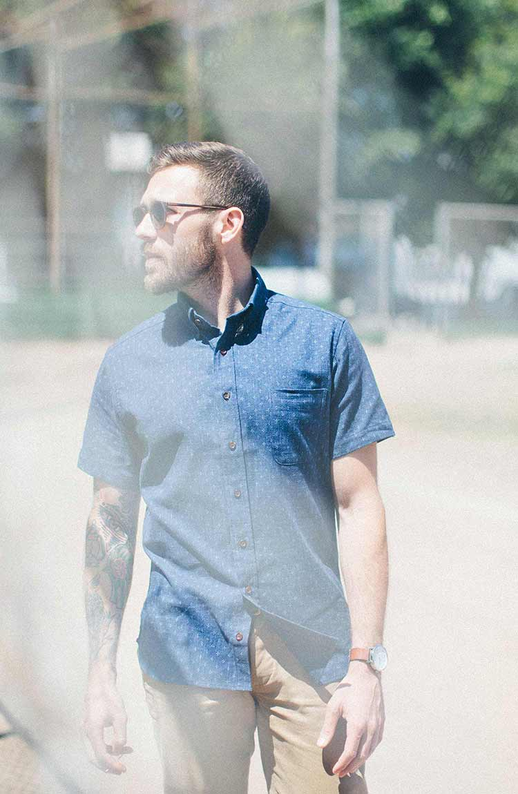 The Jack in Short Sleeve Indigo Star