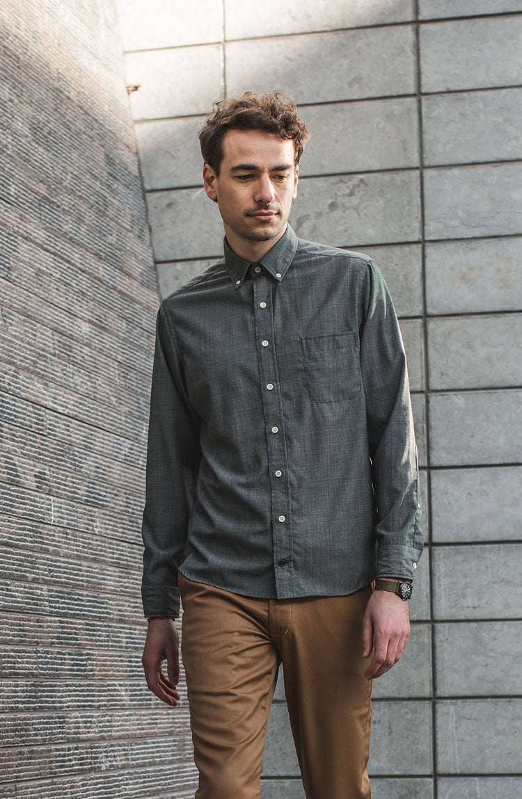 The Stone Merino Jack by CIVIC, worn in San Francisco.