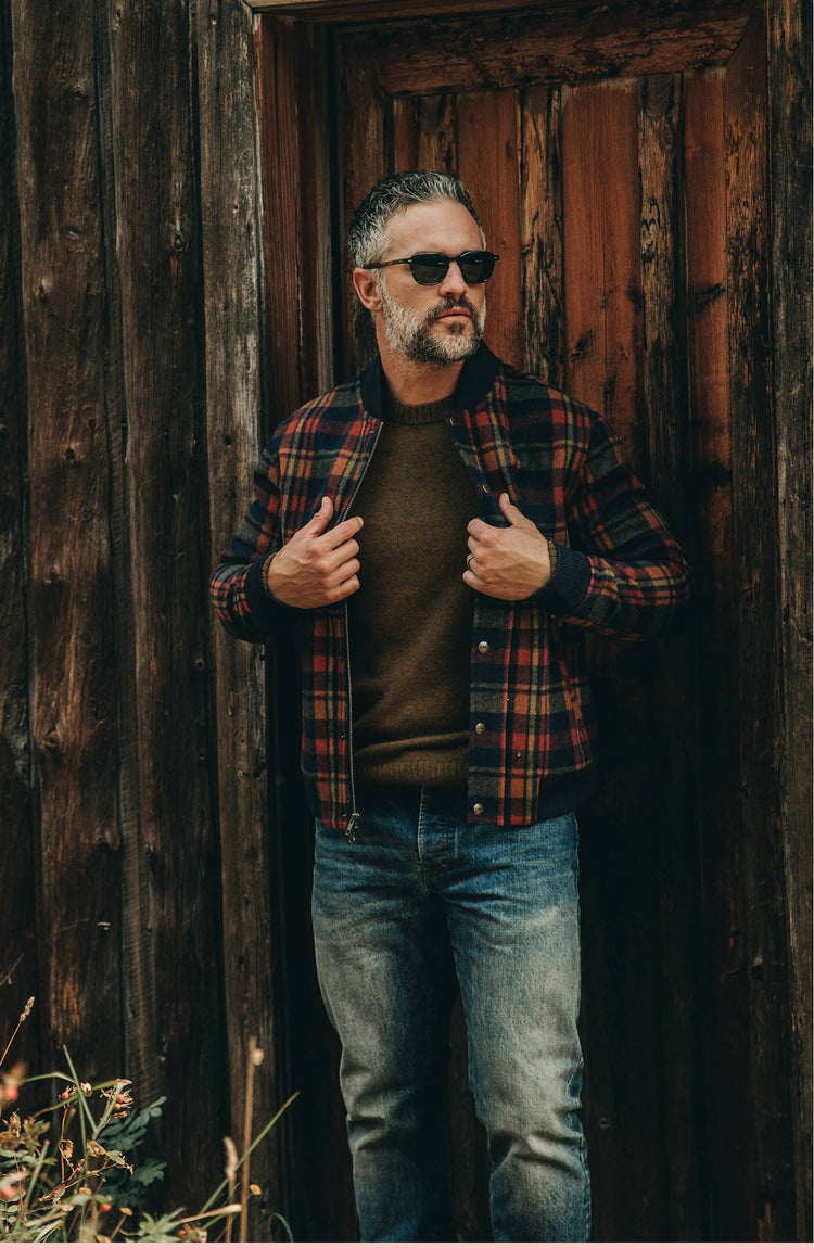 our guy wearing the bomber in montana