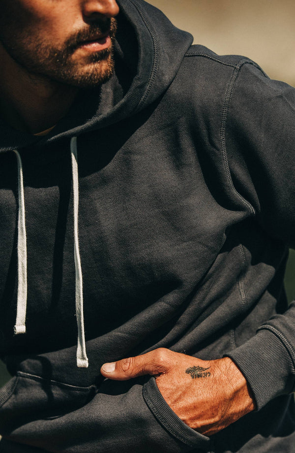 The Fillmore Hoodie in Coal Terry - Classic Men's Clothing…