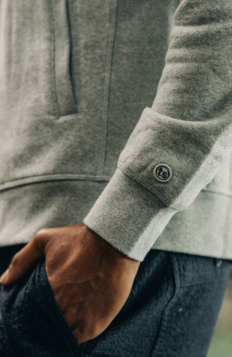 The Heavy Bag Bomber in Heather Grey Fleece — Responsibly Built for the Long Haul