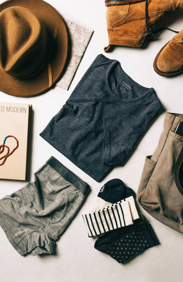 flatlay of our socks—with text overlaying