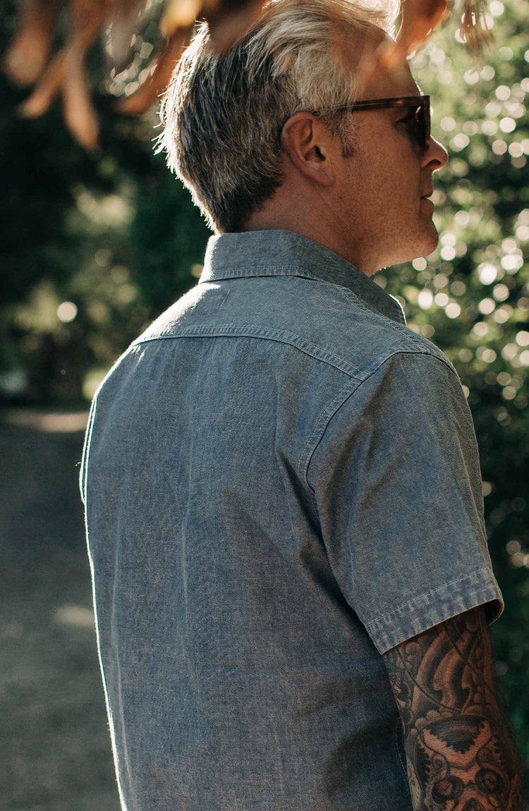 The Short Sleeve Popover in Blue Chambray — Responsibly built for the Long Haul