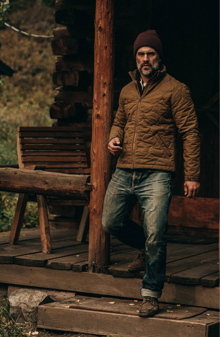our guy wearing the jacket in montana