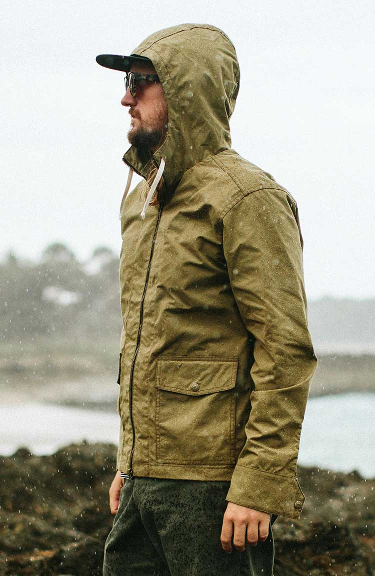 The Beach Jacket in Olive