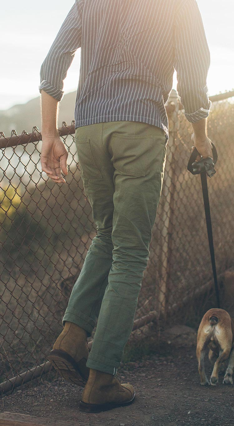 The Camp Pant in Olive Drab Selvage