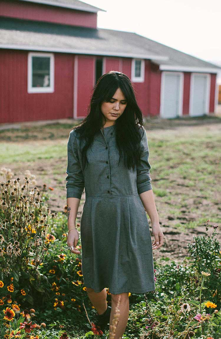 The Juniper Dress in Sage
