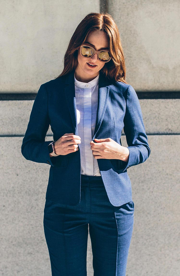 The Telegraph Blazer in Indigo