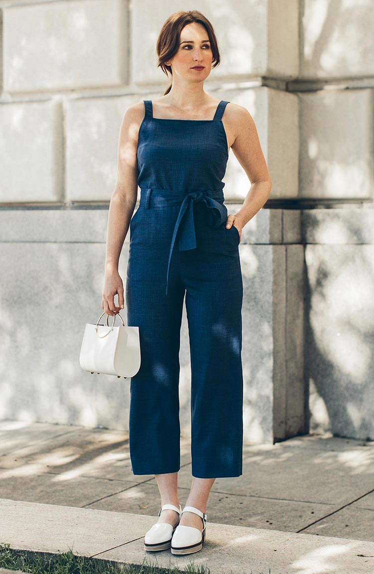 The Frankie Jumpsuit in Indigo