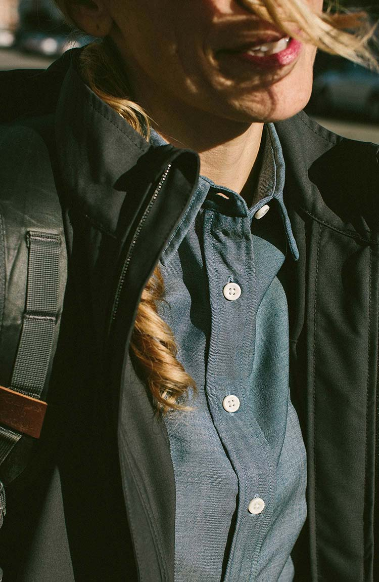 The Katherine in Blue Merino Chambray™