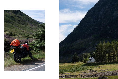 A motorcycle ride through the Scottish Highlands