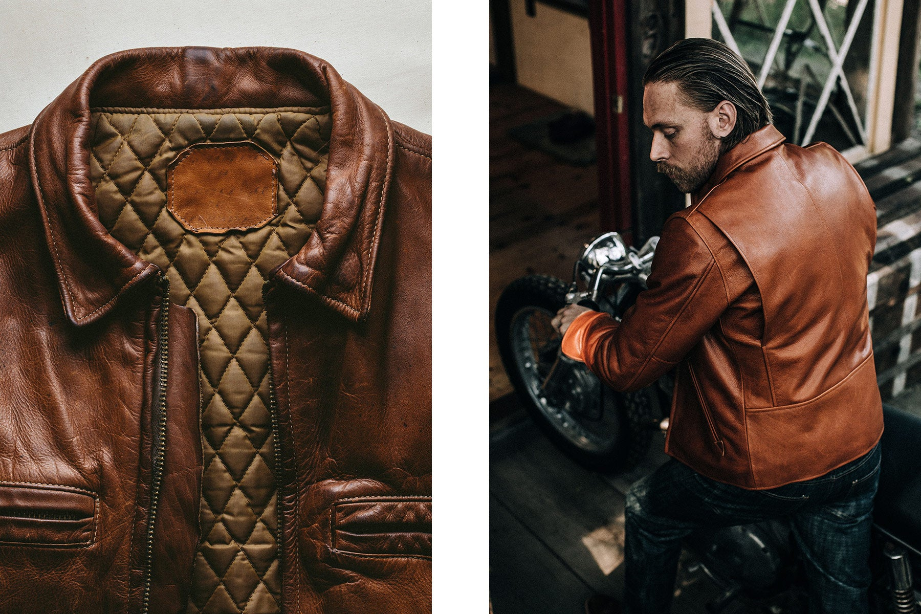 e1b8c2c80 The Whiskey Leather Moto Jacket - The Old & The New, Cafe ...