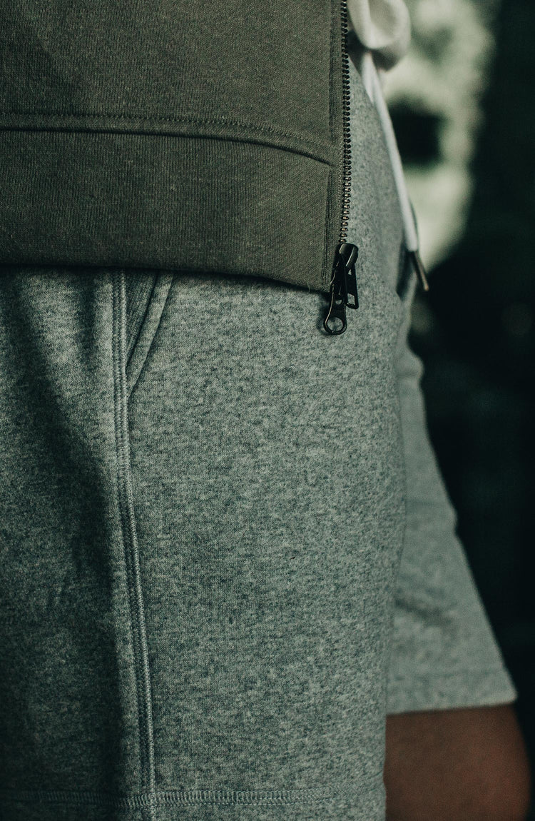 The Heavy Bag Short in Heather Grey Fleece — Responsibly Built for the Long Haul
