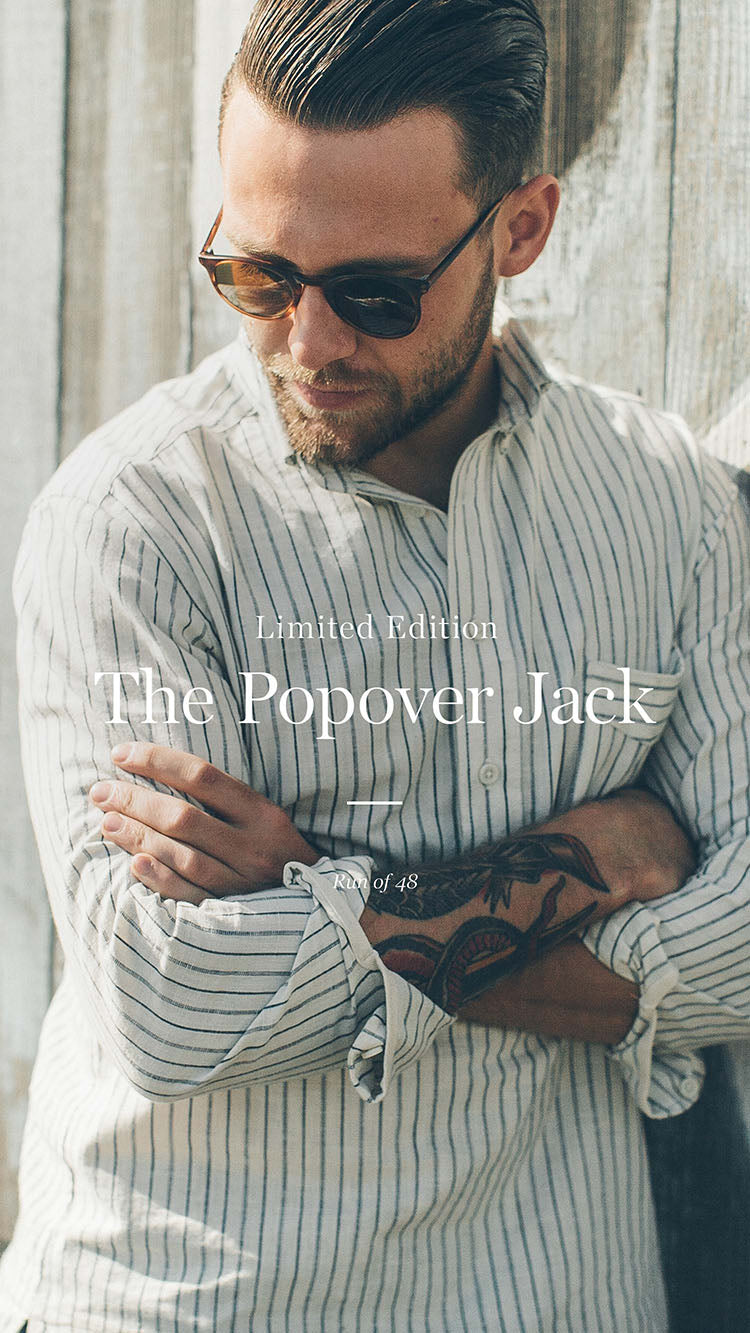 The Popover Jack in Navy Variegated Stripe