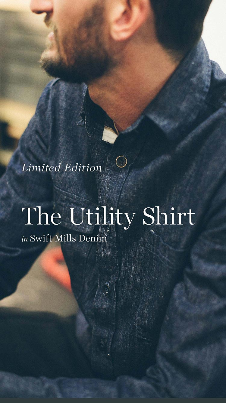 The Utility Shirt in Swift Mills Denim