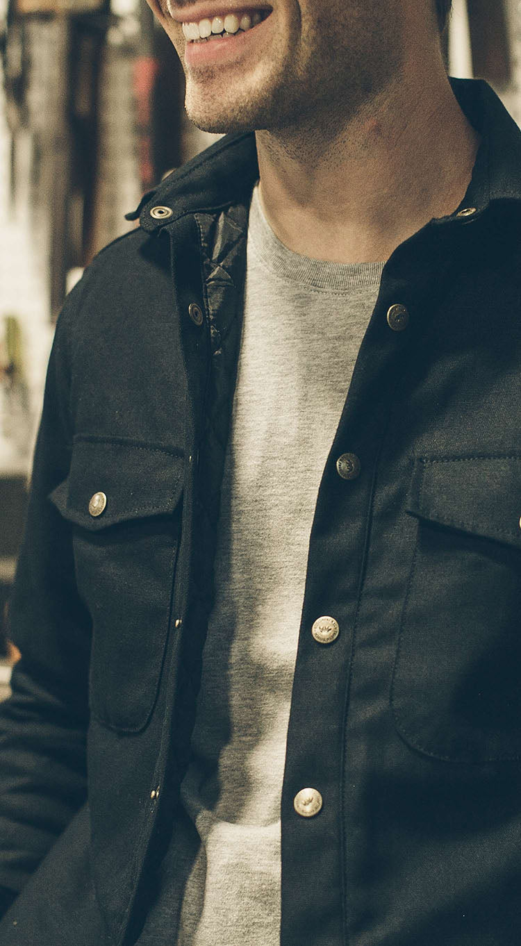 The Task Jacket in Black Canvas