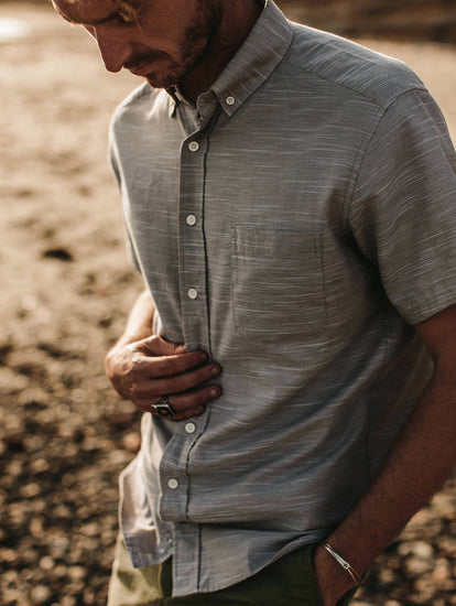 Summer Shirting - The Short Sleeve Jack in Grey Dobby from Taylor Stitch