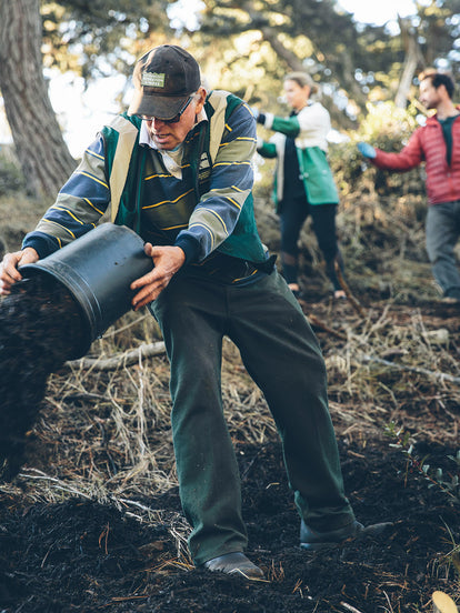 Volunteers working on maintaining our wild.
