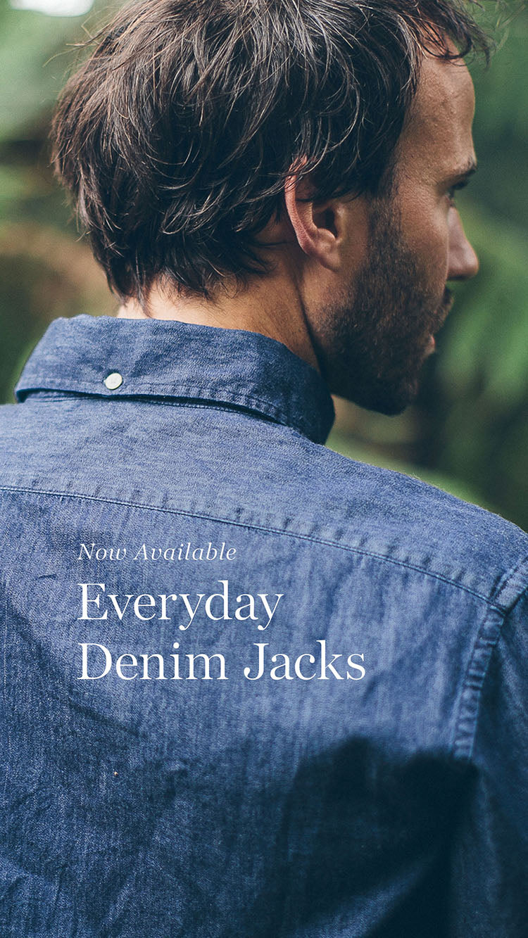 The Everyday Jack in Sea Washed and Sun Bleached Denim
