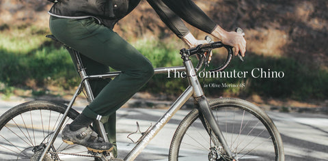 The Commuter Chino in Olive Merino 4S