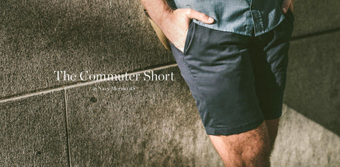 The Commuter Short in Navy Merino 4S