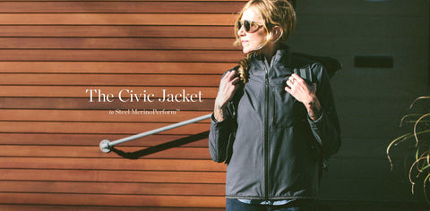 The Civic Jacket in Steel MerinoPerform™