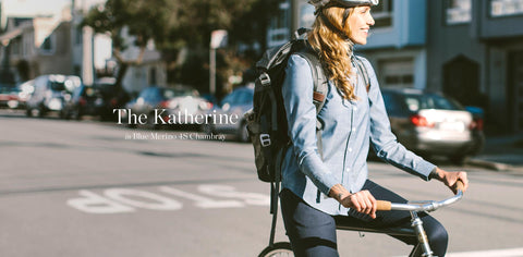 The Katherine in Blue Merino 4S Chambray