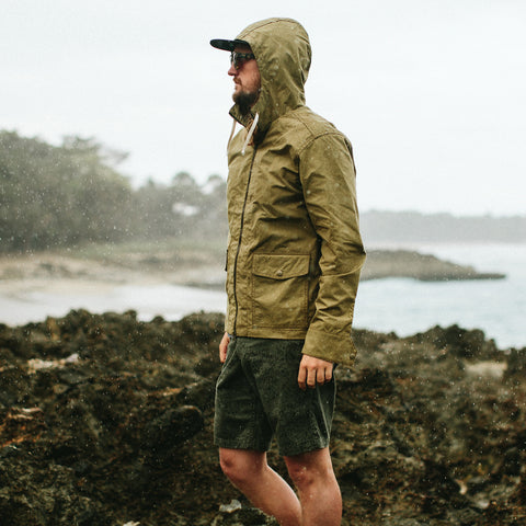 The Beach Jacket in Olive - alternate view
