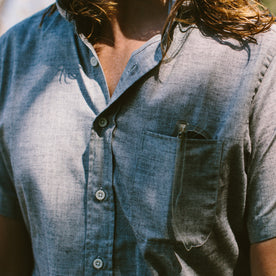The Short Sleeve Jack in Steel Chambray: Alternate Image 2